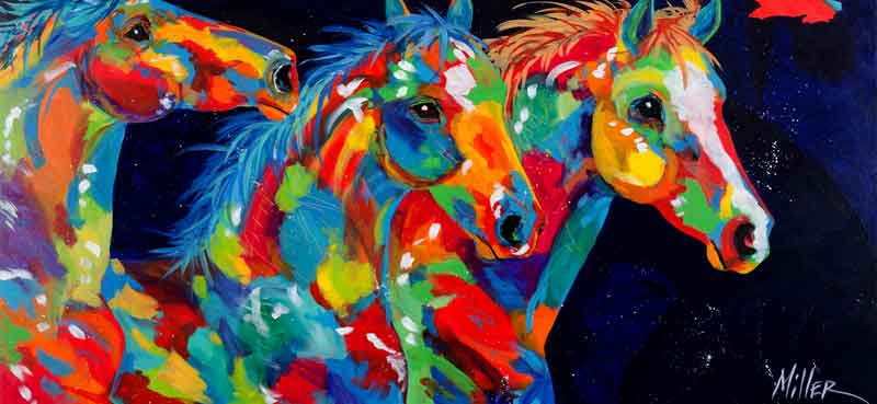 Horses And Wildlife Of The West Painted In A Bold And