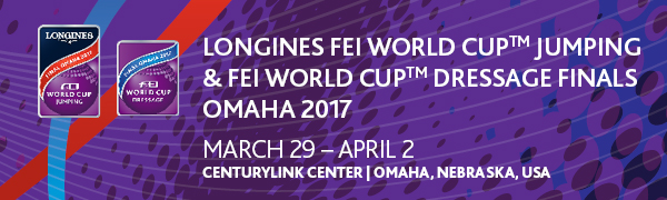 The Countdown Has Begun for Omaha's First World Professional Sports Championship on March 29-April 2 2017 Longines FEI World Cup #eliteequestrian elite equestrian magazine
